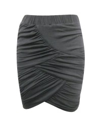 Ruched Jersey Mini Skirt