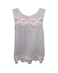 Top with Scalloped Lace Inserts